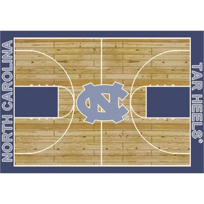 College Court North Carolina Tar Heels Rug Rug Size: 109 x 132