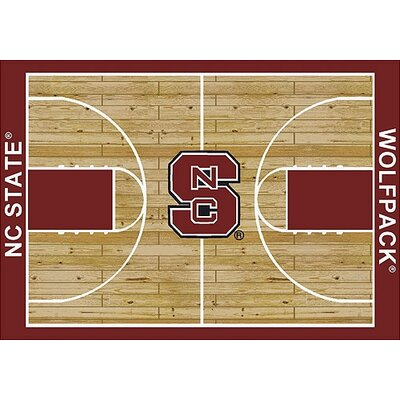 NCAA College Home Court North Carolina State Novelty Rug Rug Size: Rectangle 78 x 109