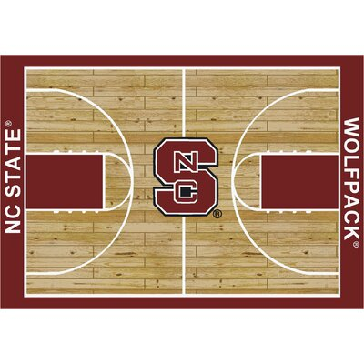 College Court North Carolina State Wolfpack Rug Rug Size: 109 x 132