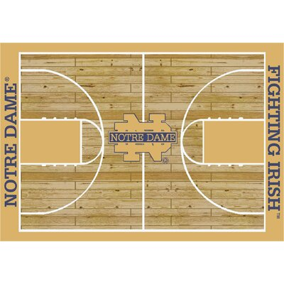 College Court Notre Dame Fighting Irish Rug Rug Size: 109 x 132