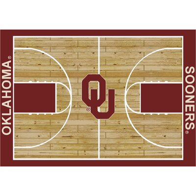 College Court Oklahoma Sooners Rug Rug Size: 109 x 132