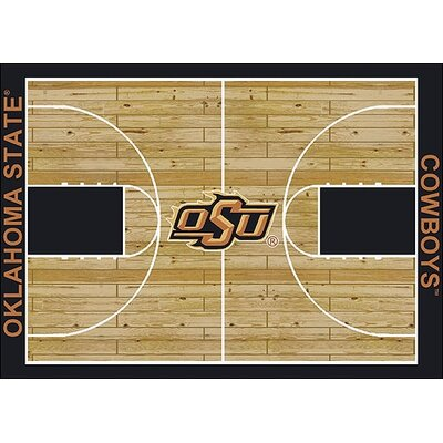 NCAA College Home Court Oklahoma State Novelty Rug Rug Size: Rectangle 109 x 132
