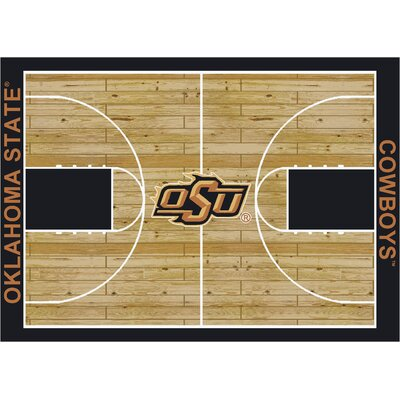 College Court Oklahoma State Cowboys Rug Rug Size: 109 x 132