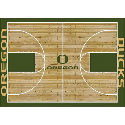 College Court Oregon Ducks Rug Rug Size: 109 x 132