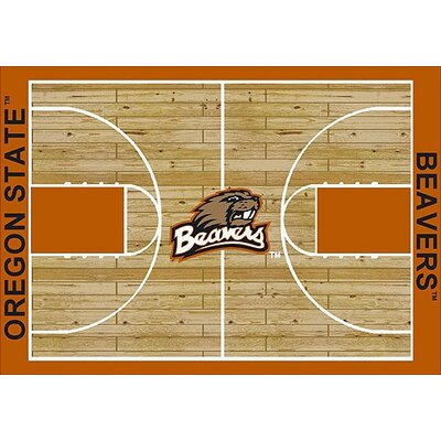 NCAA College Home Court Oregon State Novelty Rug Rug Size: Rectangle 54 x 78