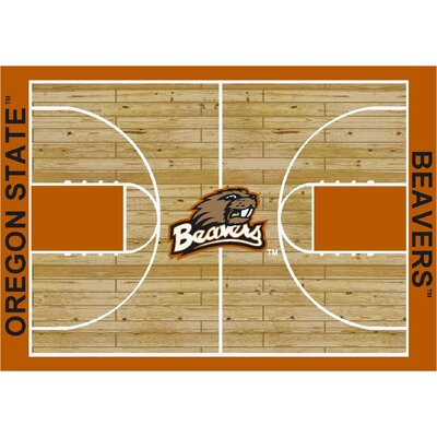 College Court Oregon State Beavers Rug Rug Size: 109 x 132