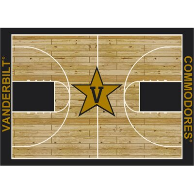 NCAA Area Rug Rug Size: Rectangle 109 x 132, NCAA Team: Vanderbilt University