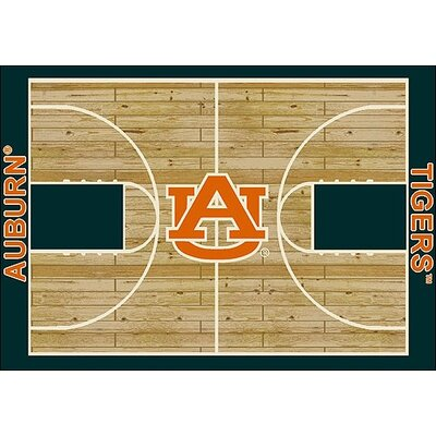 College Court NCAA Auburn Novelty Rug Rug Size: 54 x 78