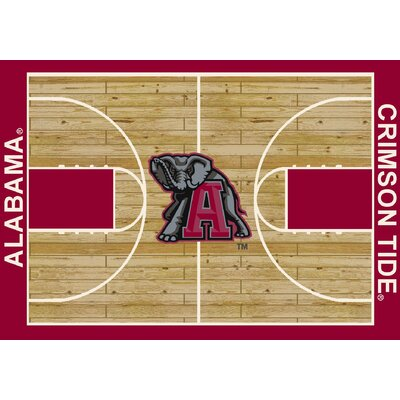 NCAA Area Rug Rug Size: Rectangle 109 x 132, NCAA Team: University of Alabama