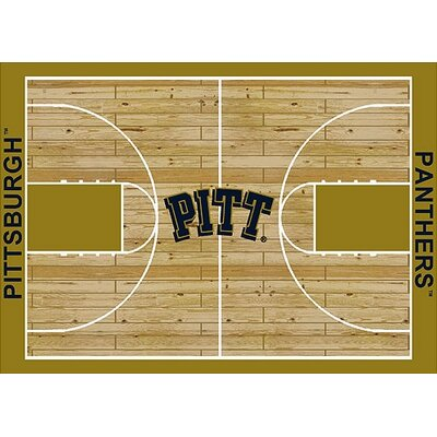 NCAA College Home Court Pittsburgh Novelty Rug Rug Size: Rectangle 109 x 132
