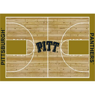 College Court Pittsburgh Panthers Rug Rug Size: 109 x 132