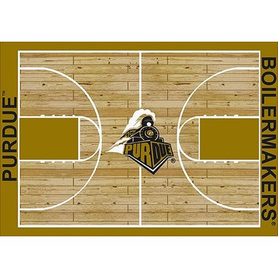NCAA College Home Court Purdue Novelty Rug Rug Size: Rectangle 109 x 132