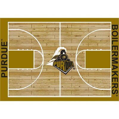 College Court Purdue Boilermakers Rug Rug Size: 54 x 78