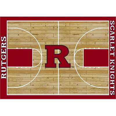 College Court Rutgers Scarlet Knights Rug Rug Size: 109 x 132