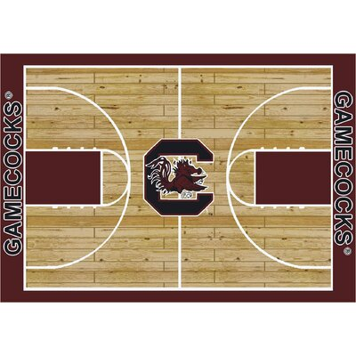 NCAA College Home Court South Carolina Novelty Rug Rug Size: Rectangle 109 x 132