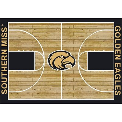 NCAA College Home Court Southern Mississippi Novelty Rug Rug Size: Rectangle 109 x 132
