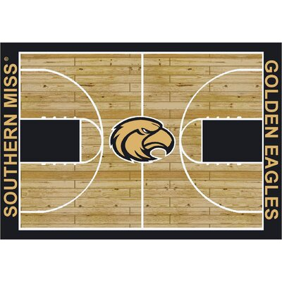 College Court Southern Mississippi Golden Eagles Rug Rug Size: 109 x 132