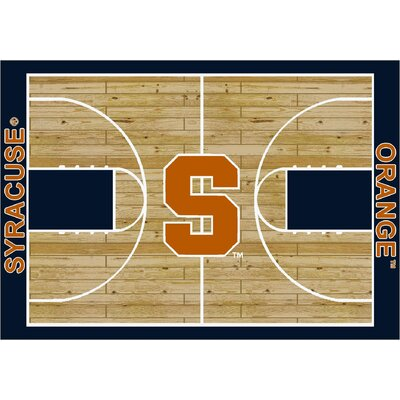 College Court Syracuse Orange Rug Rug Size: 109 x 132