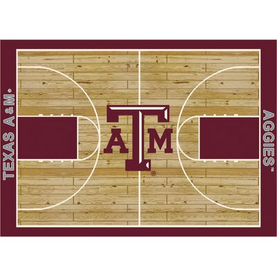 College Court Texas A & M Aggies Rug Rug Size: 78 x 109