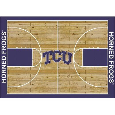 College Court TCU Horned Frogs Rug Rug Size: 109 x 132