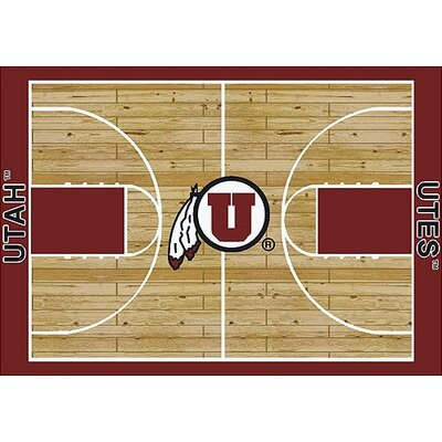 NCAA College Home Court Utah Novelty Rug Rug Size: Rectangle 54 x 78
