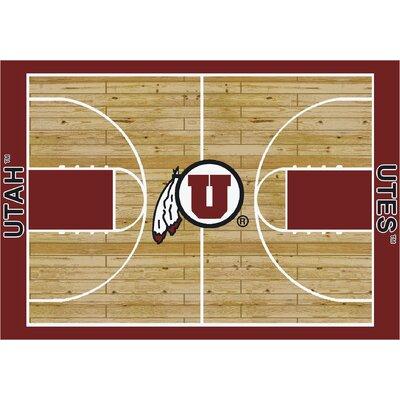 College Court Utah Utes Rug Rug Size: 109 x 132