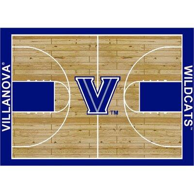 College Court Villanova Wildcats Rug Rug Size: 109 x 132