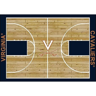 NCAA College Home Court Virginia Novelty Rug Rug Size: Rectangle 109 x 132