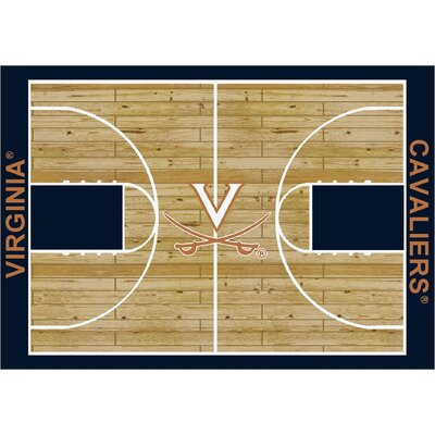 College Court Virginia Cavaliers Rug Rug Size: 109 x 132