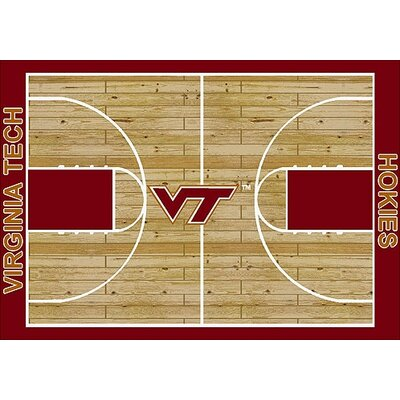 NCAA College Home Court Virginia Tech Novelty Rug Rug Size: Rectangle 109 x 132