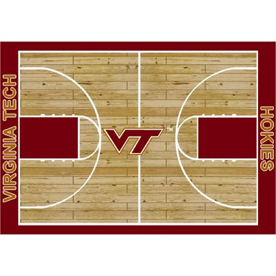 College Court Virginia Tech Hokies Rug Rug Size: 78 x 109