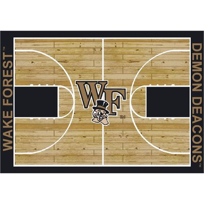 College Court Wake Forest Demon Deacons Rug Rug Size: 109 x 132