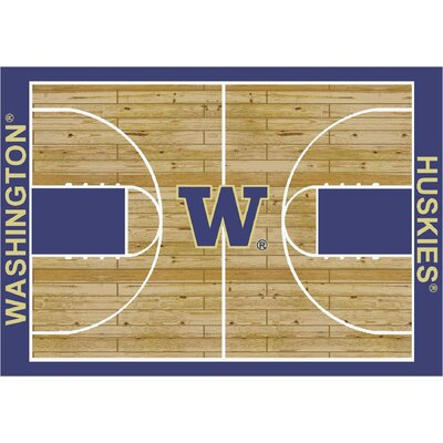 College Court Washington Huskies Rug Rug Size: 109 x 132