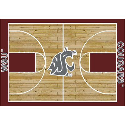 College Court Washington State Cougars Rug Rug Size: 109 x 132