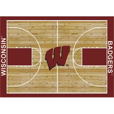 College Court Wisconsin Badgers Rug