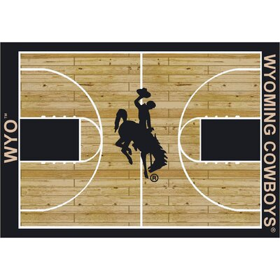College Court Wyoming Cowboys Rug Rug Size: 54 x 78