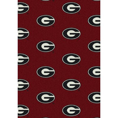 College Repeating NCAA Georgia Novelty Rug