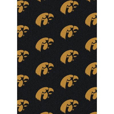 College Repeating NCAA Iowa Novelty Rug