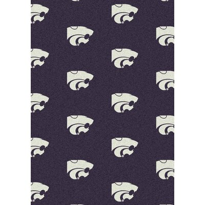 College Repeating NCAA Kansas State Novelty Rug