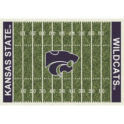 College Home Field NCAA Kansas State Novelty Rug Rug Size: 109 x 132