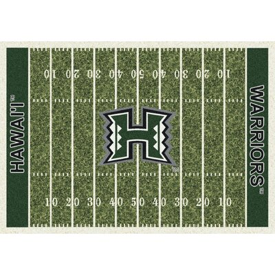 College Home Field NCAA Hawaii Novelty Rug Rug Size: 54 x 78