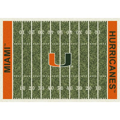 College Home Field NCAA Miami Novelty Rug Rug Size: 109 x 132