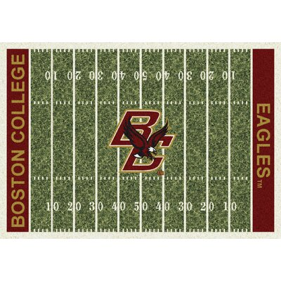 College Home Field NCAA Boston College Novelty Rug Rug Size: 54 x 78