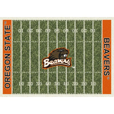 College Home Field NCAA Oregon State Novelty Rug Rug Size: 54 x 78