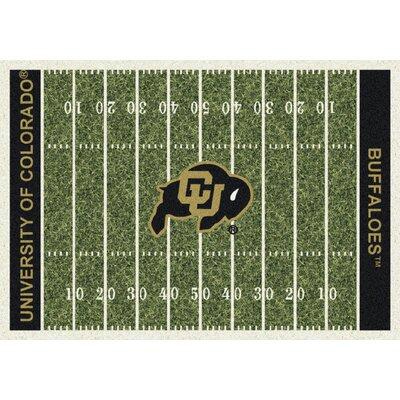 College Home Field NCAA Colorado Novelty Rug Rug Size: 109 x 132