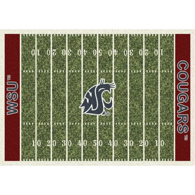 College Home Field NCAA Washington State Novelty Rug Rug Size: 109 x 132