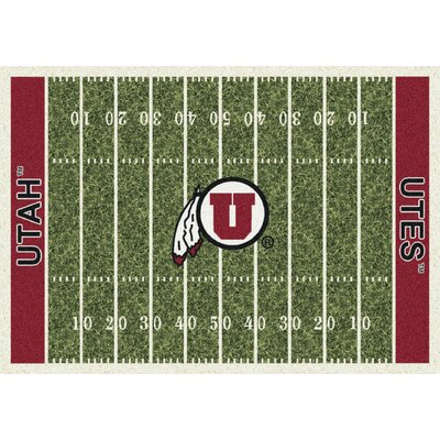 College Home Field NCAA Utah Novelty Rug Rug Size: 54 x 78