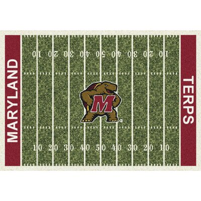 College Home Field NCAA Maryland Novelty Rug Rug Size: 54 x 78