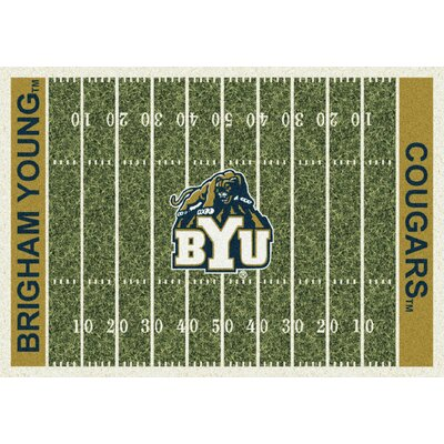 College Home Field NCAA Brigham Young Novelty Rug Rug Size: 54 x 78