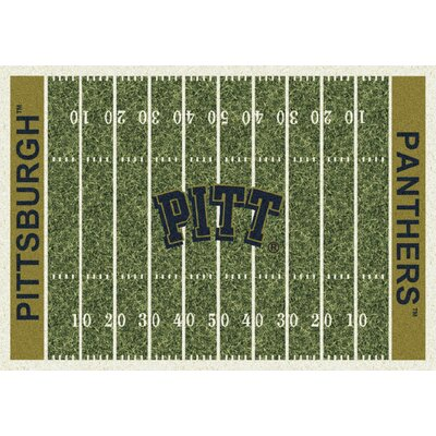 College Home Field NCAA Pittsburgh Novelty Rug Rug Size: 5'4
